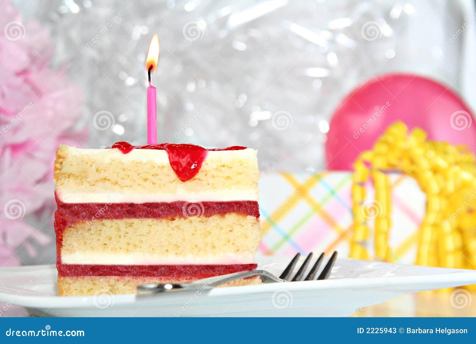 De cake van de verjaardag
