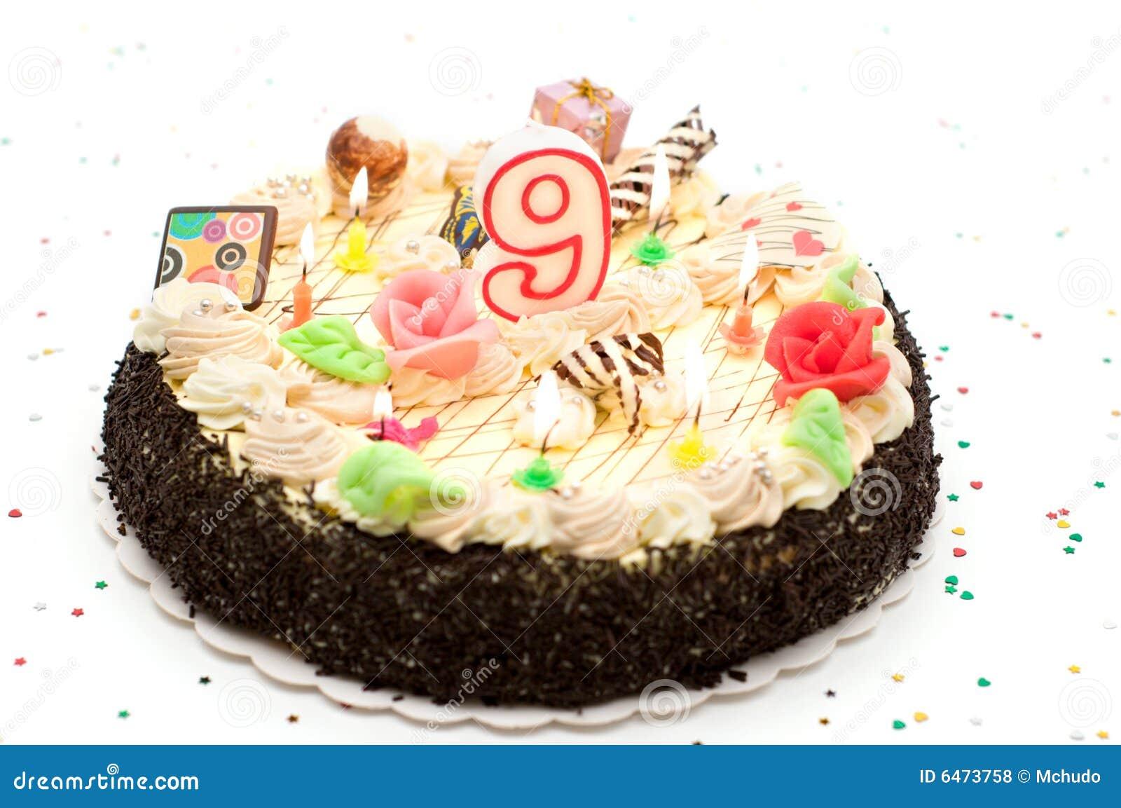 Extreem De Cake Van De Verjaardag 9 Jaar Stock Foto - Afbeelding bestaande #AM34