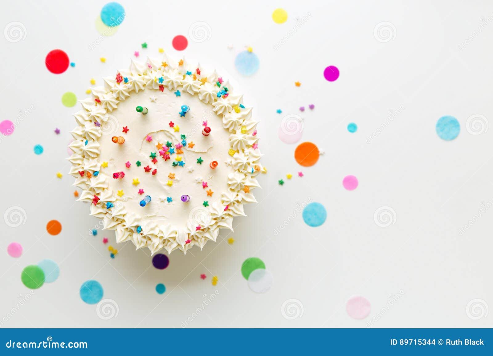De cake van de verjaardag van hierboven