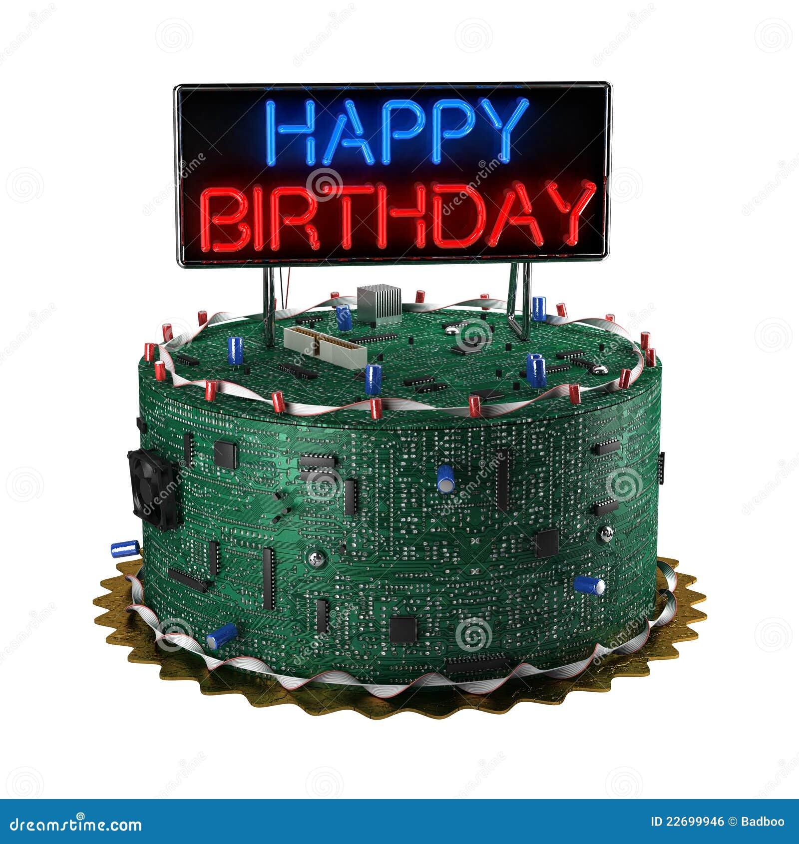De Cake van de verjaardag voor Geeks