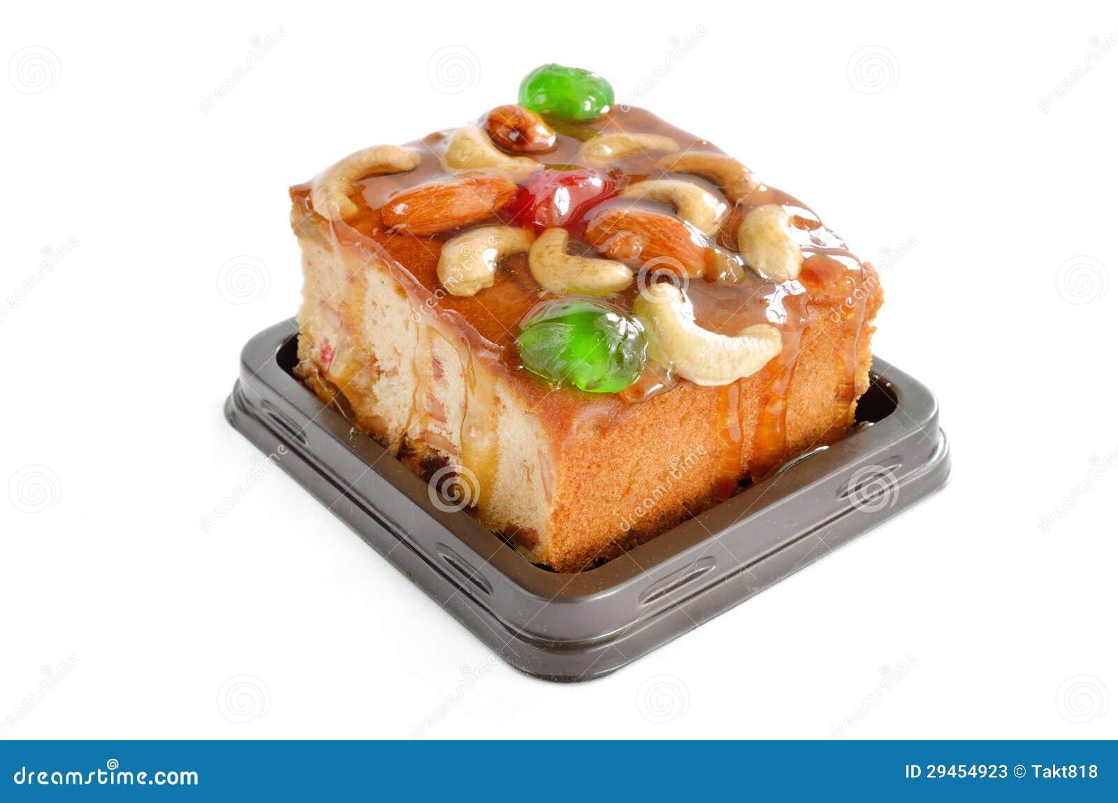 De cake van vruchten met mengelingsnoot en gedroogd fruit