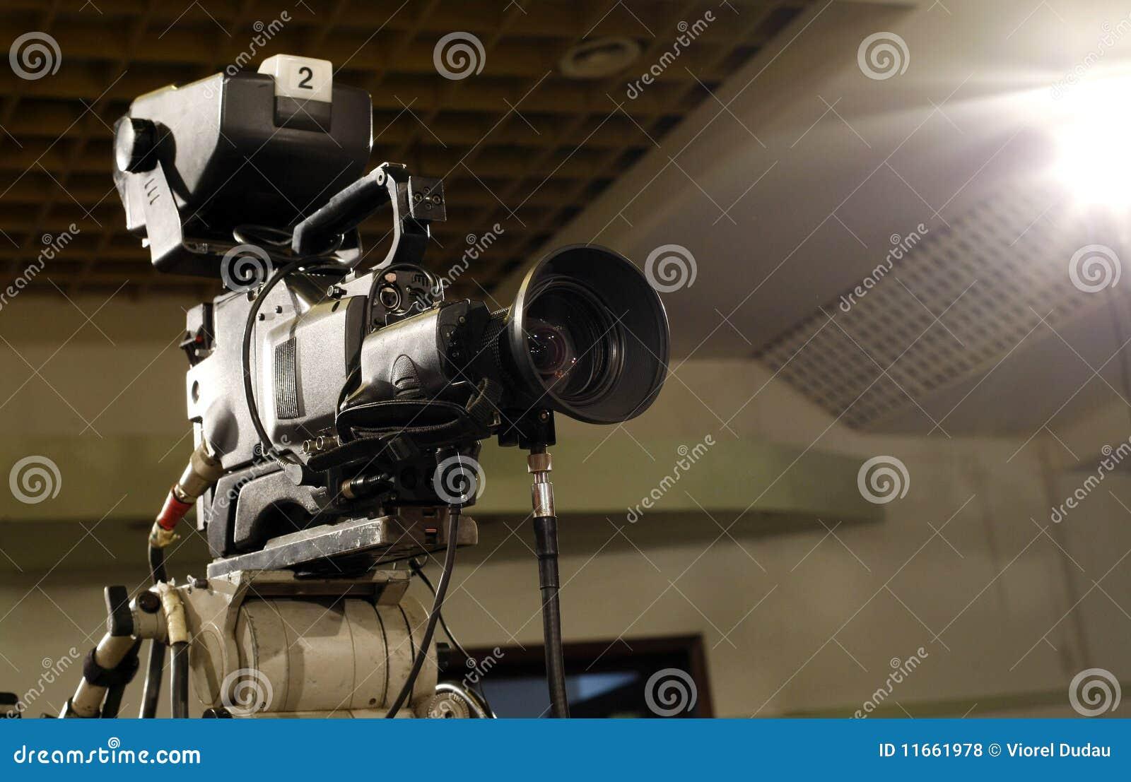De camera van de televisie
