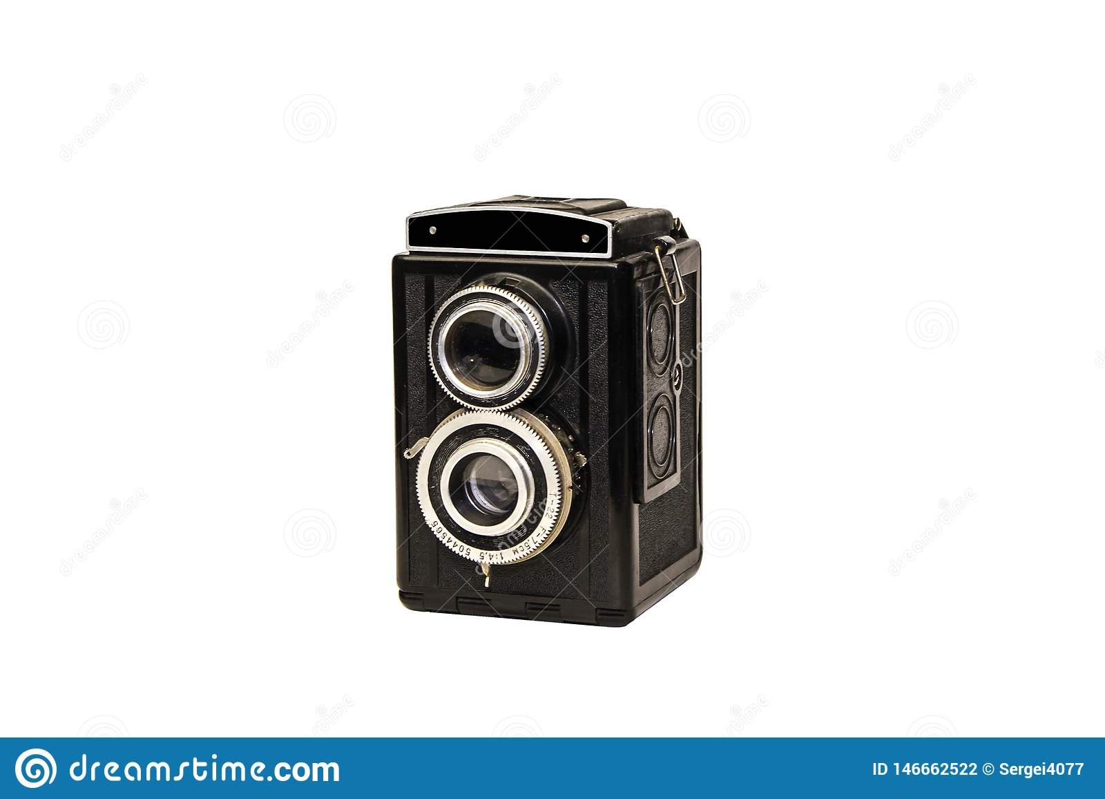 De cameralenzen van de film retro foto