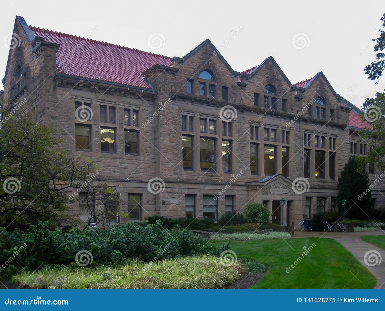 De campus van de Oberlinuniversiteit in Ohio