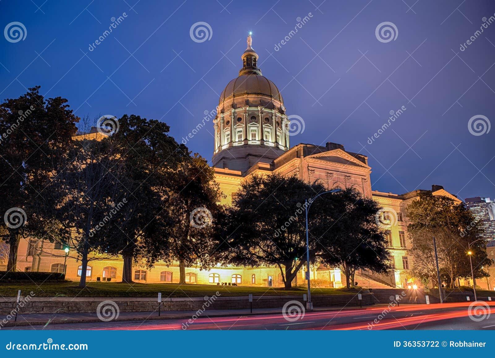 De capitolbouw van de staat van Georgië in Atlanta
