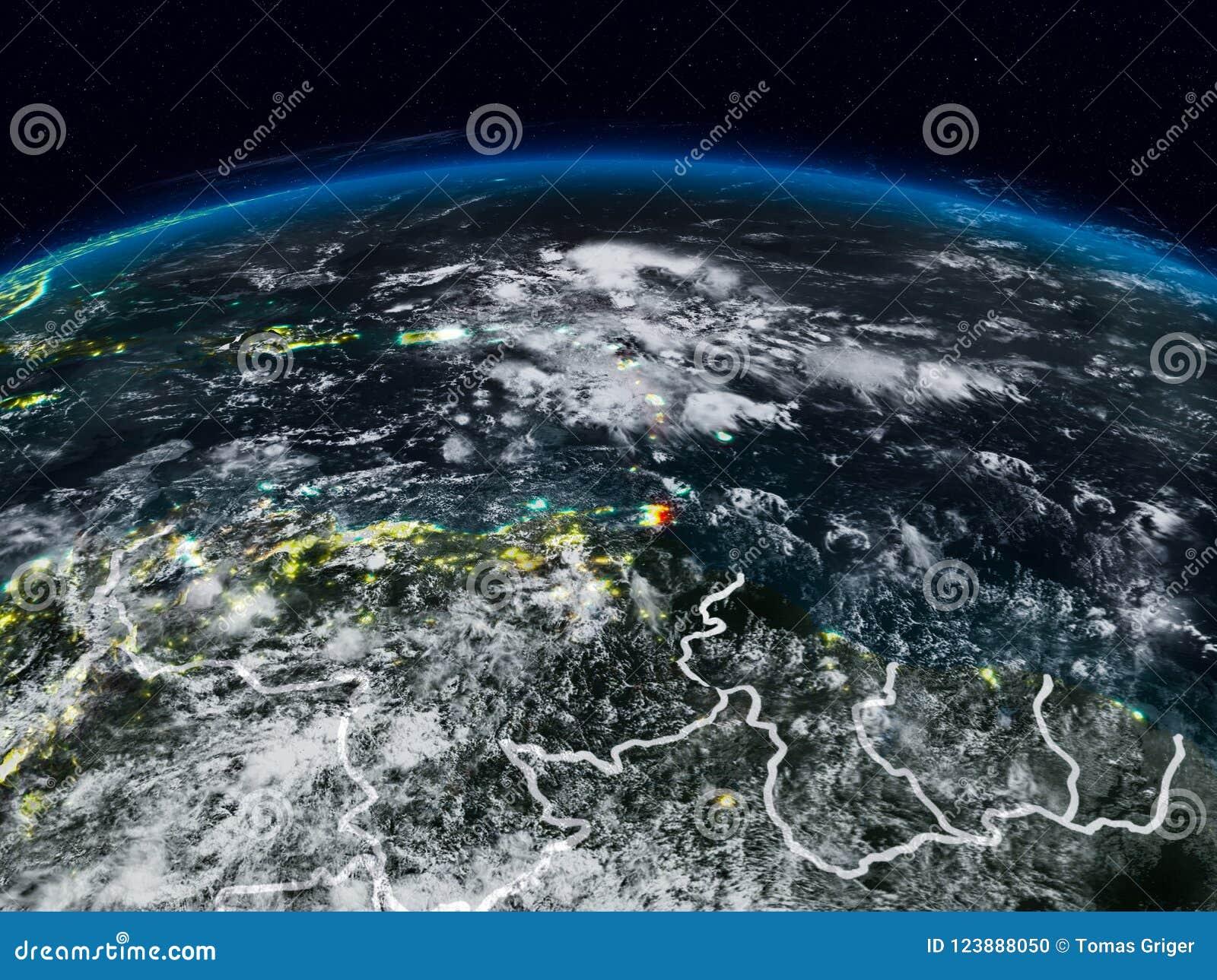 De Caraïben bij nacht