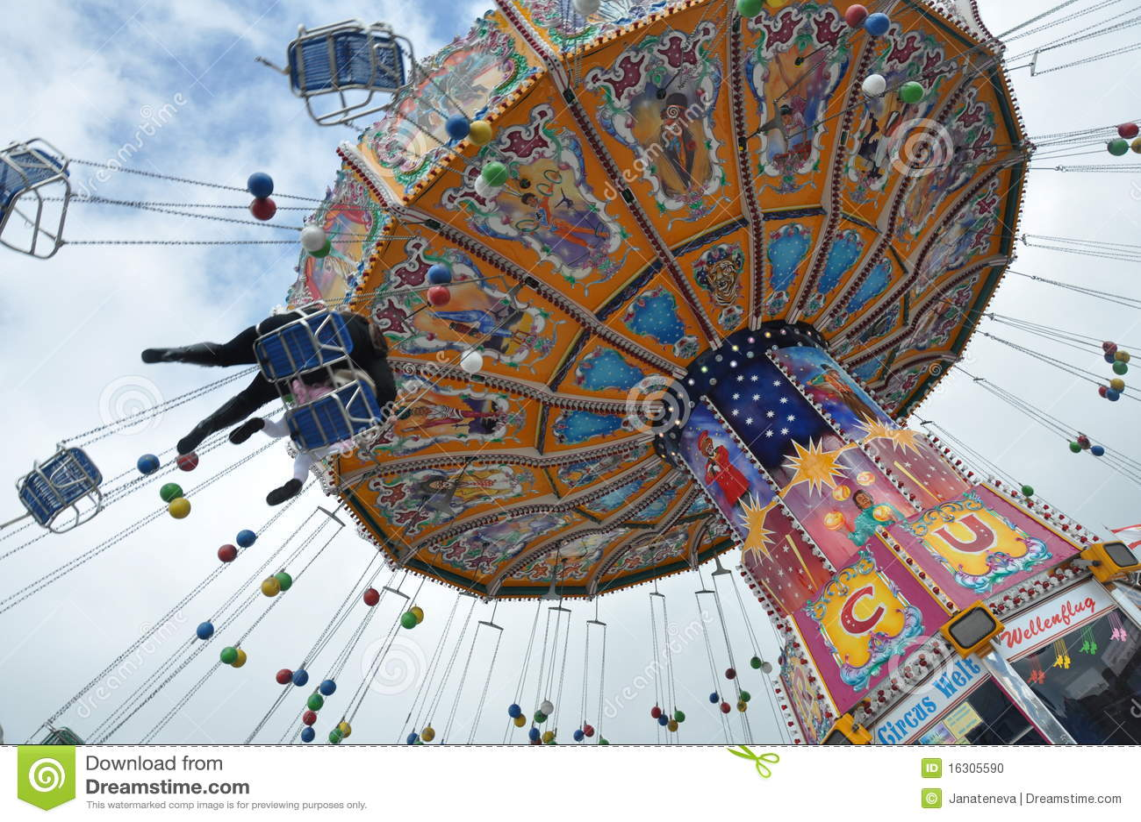 De carrousel van Oktoberfest 2010