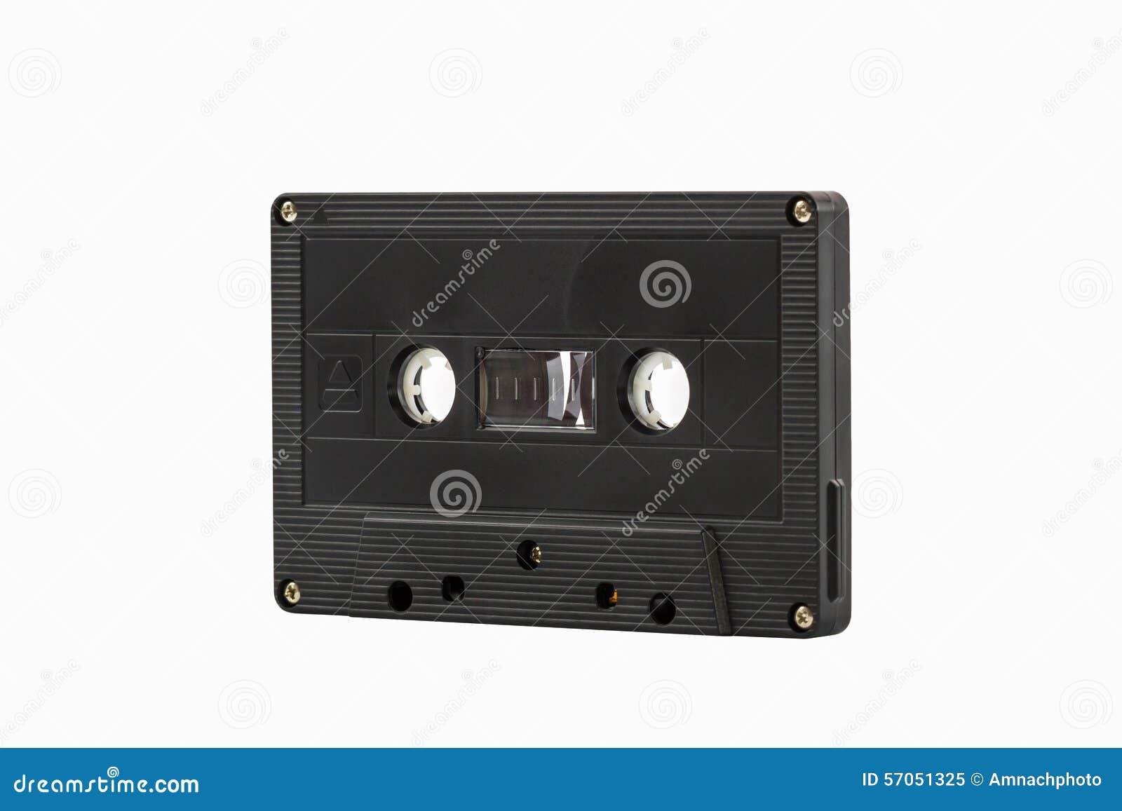 De cassetteband isoleert op witte achtergrond