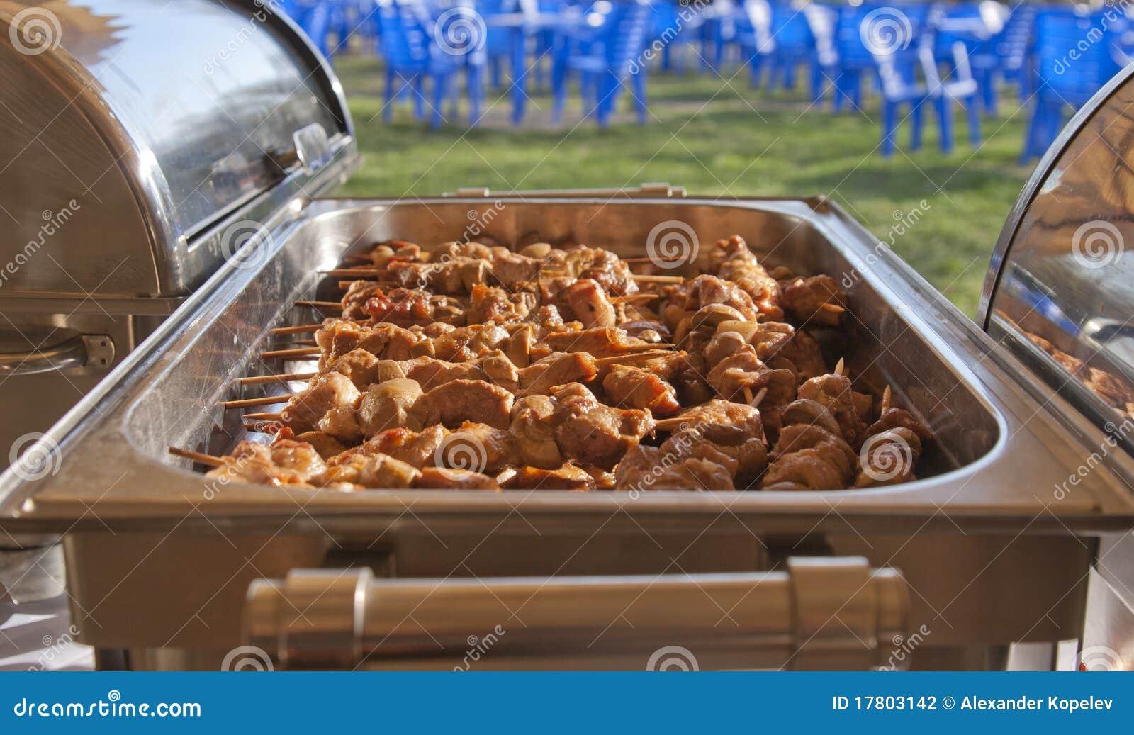 De catering van de barbecue
