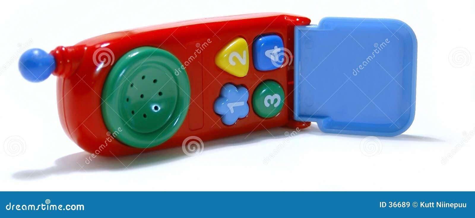 De cel-telefoon van het stuk speelgoed