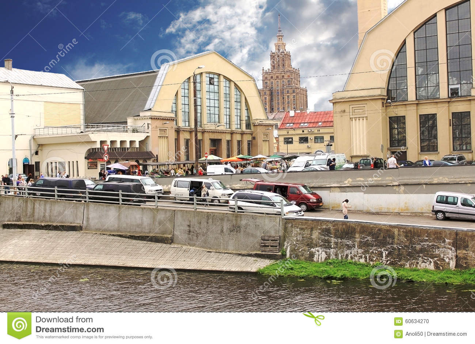 De Centrale Markt van Riga letland