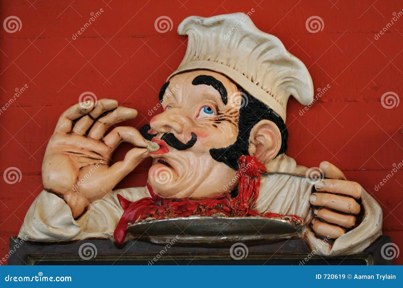 De chef-kok van het beeldverhaal