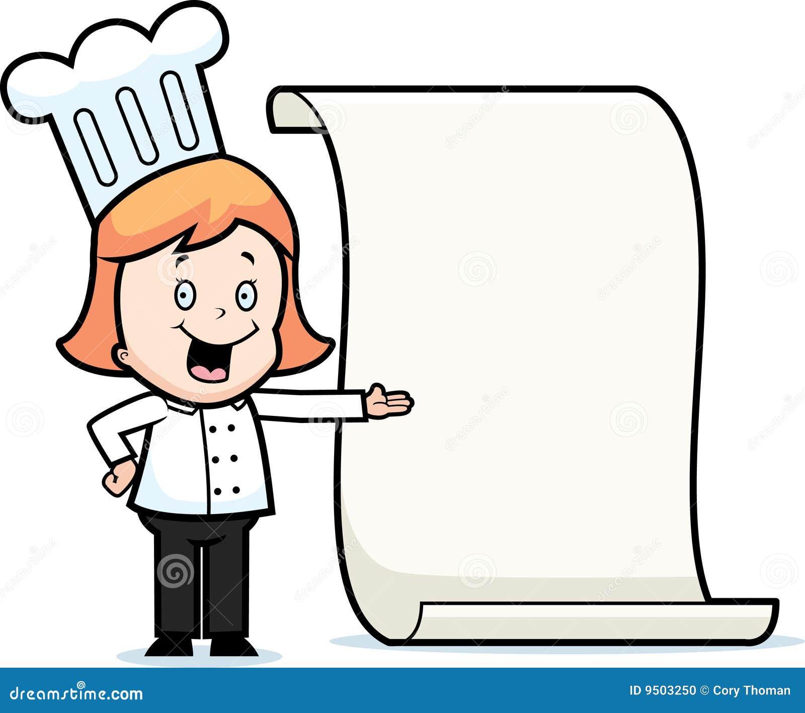 De chef kok van het meisje stock foto beeld 9503250 - Beeld het meisje van ...