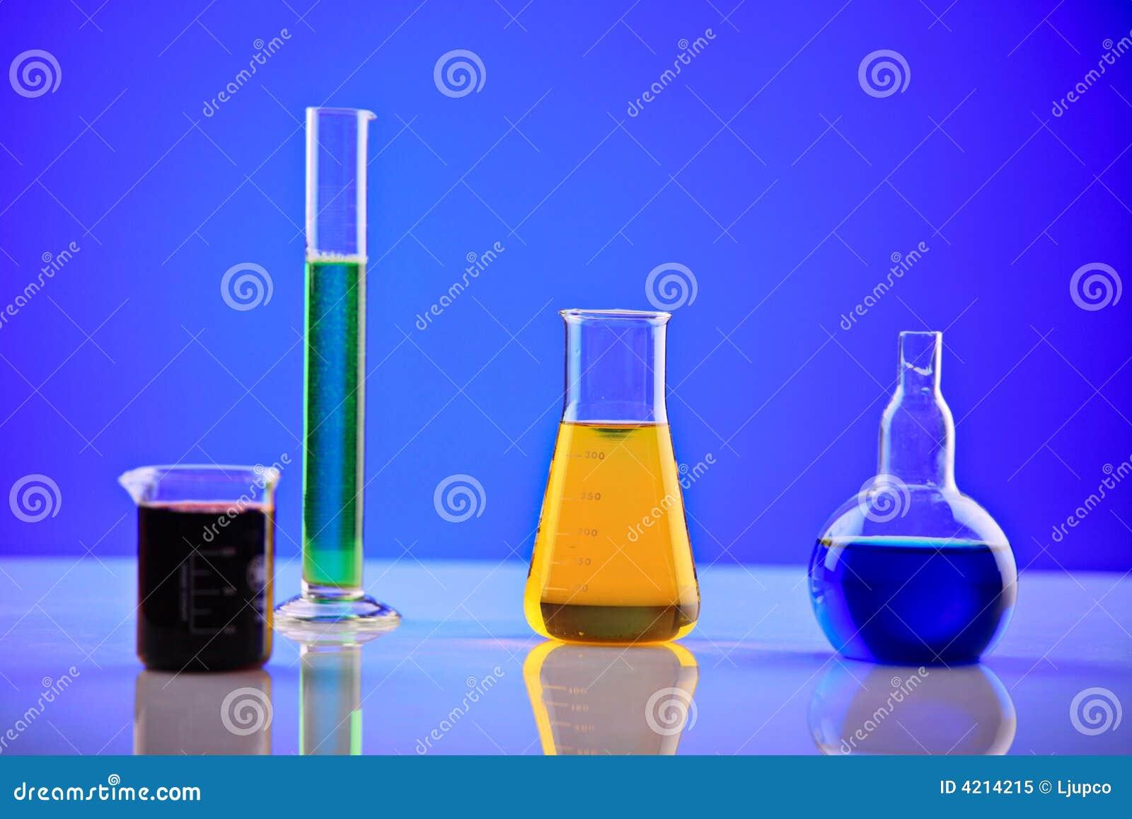 De chemische producten van het laboratorium