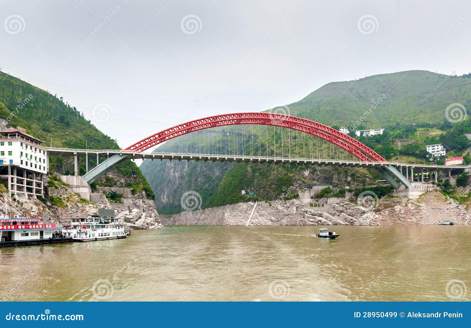 De Chinese Brug van de Rivier Yangtze