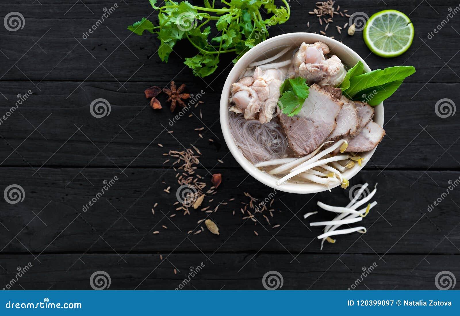 De Chinese soep ramen