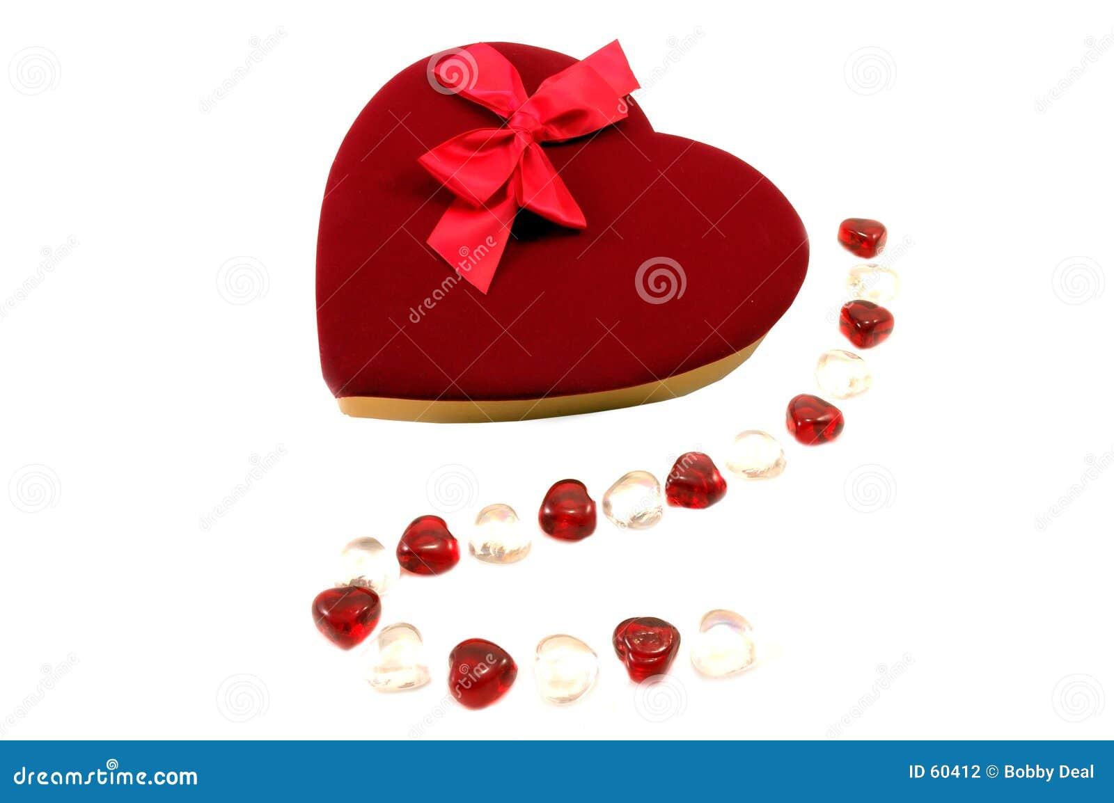 De Chocolade van de valentijnskaart