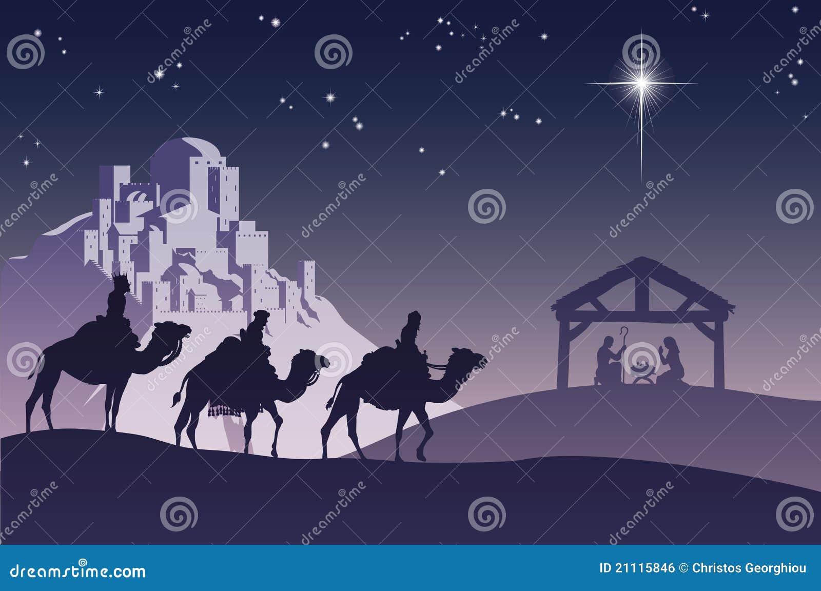 De christelijke Scène van de Geboorte van Christus van Kerstmis