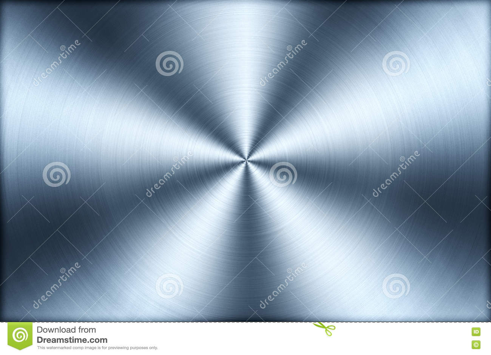 De cirkel geborstelde achtergrond van de metaaltextuur, illustratie