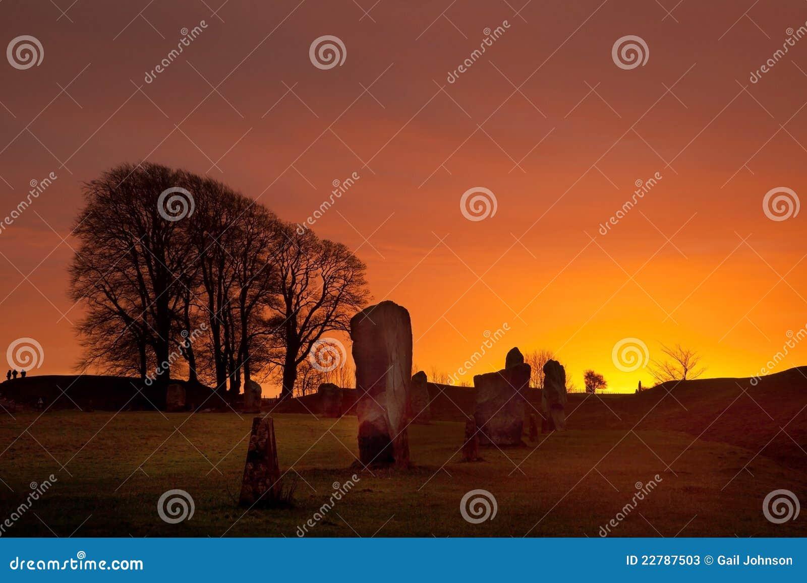 De Cirkel van de Steen van Avebury