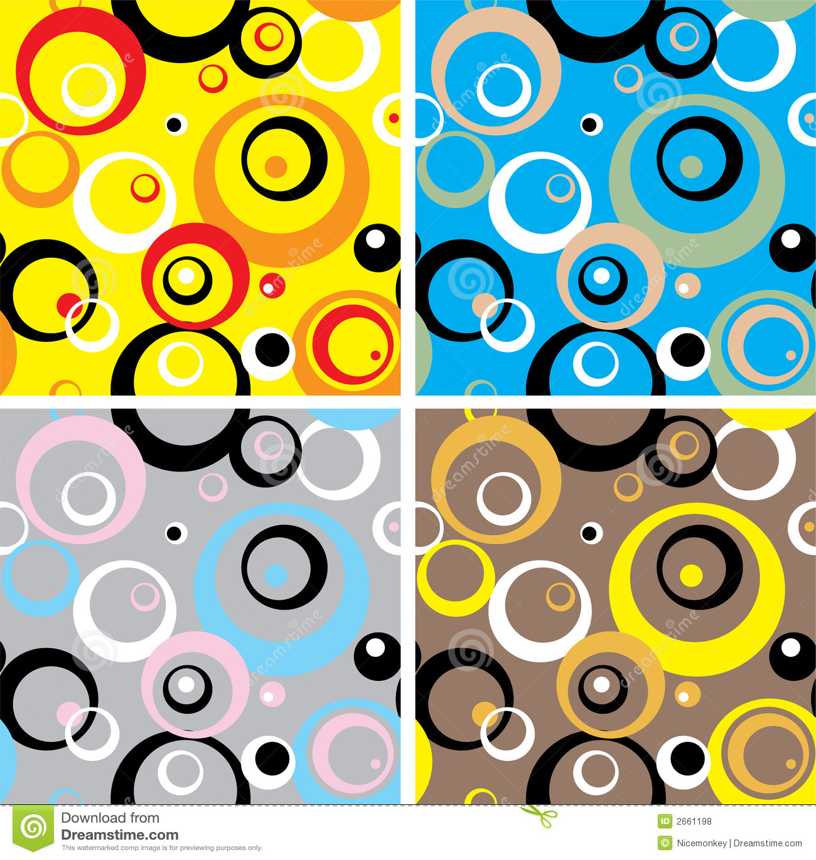 De cirkels van de jaren 39 70 multi royalty vrije stock foto 39 s afbeelding 2661198 - Behang van de jaren ...