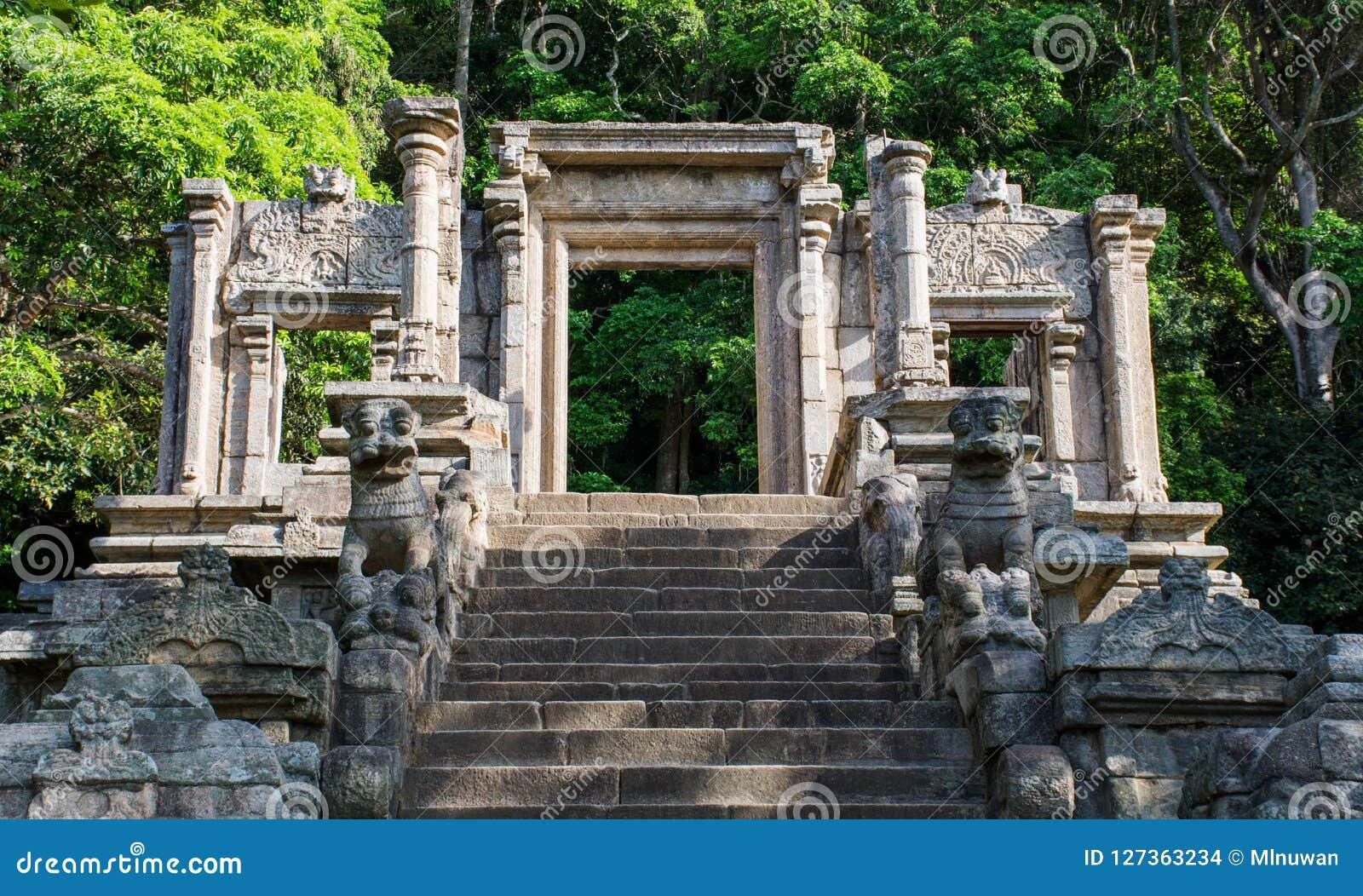 De citadel van Yapahuwa, Sri Lanka
