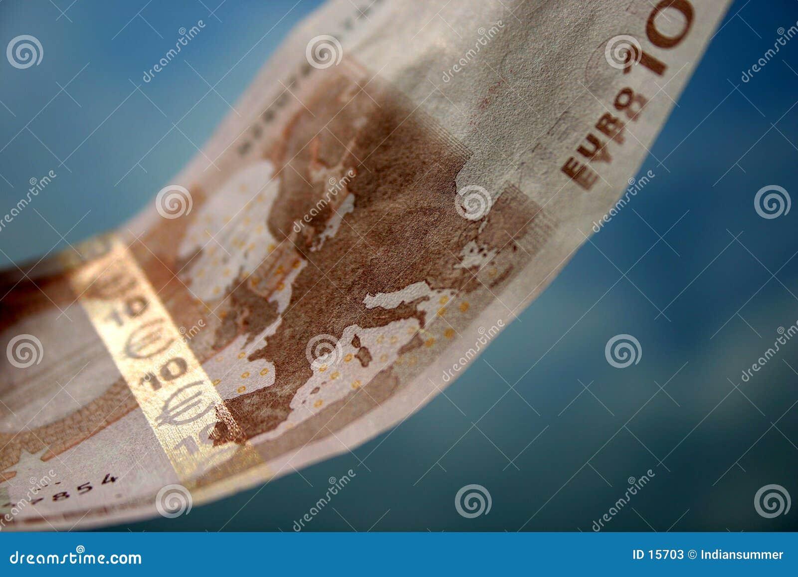 De close-up van 10 Euro