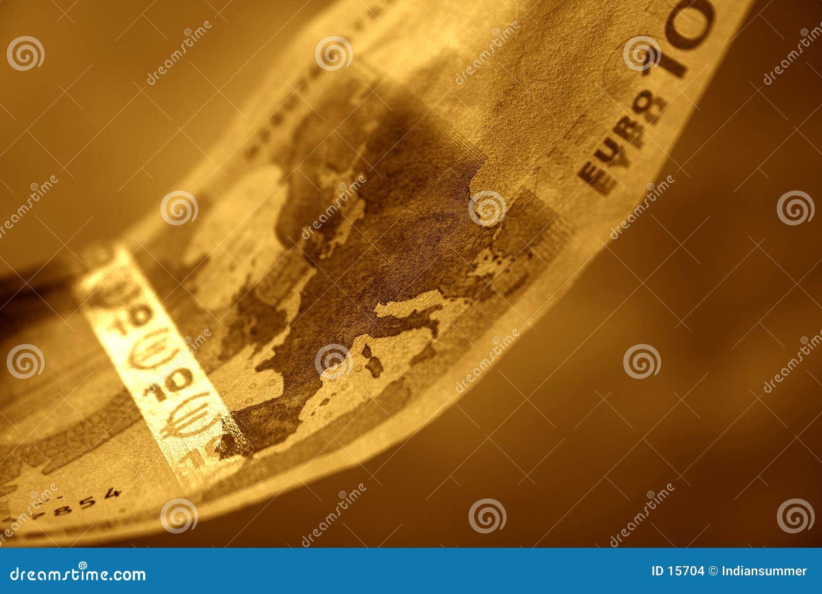 De close-up van 10 Euro, II
