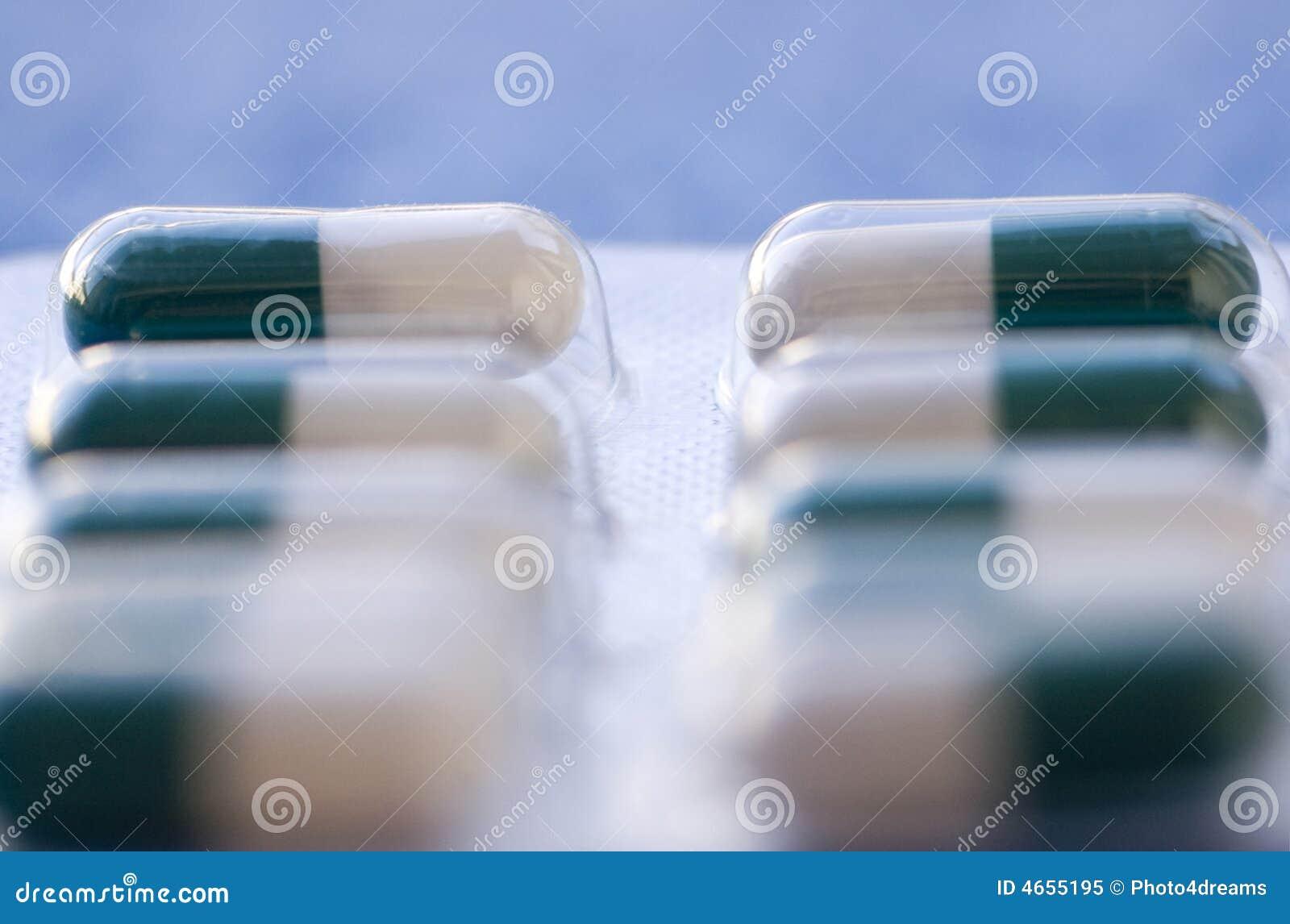 De close-up van antibiotica