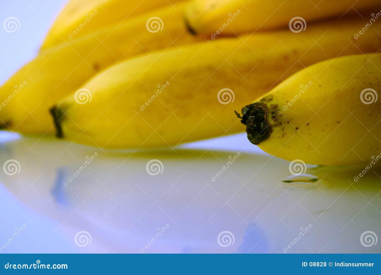 De close-up van de banaan