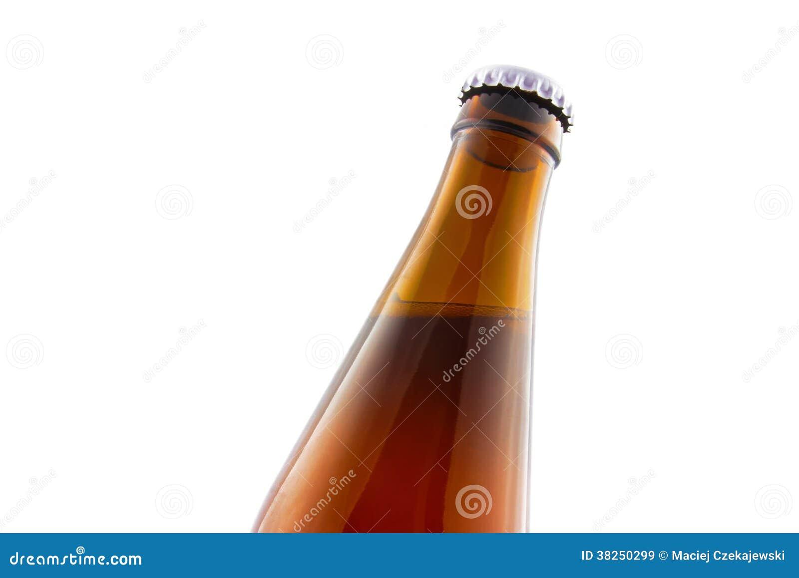 De close-up van de bierfles