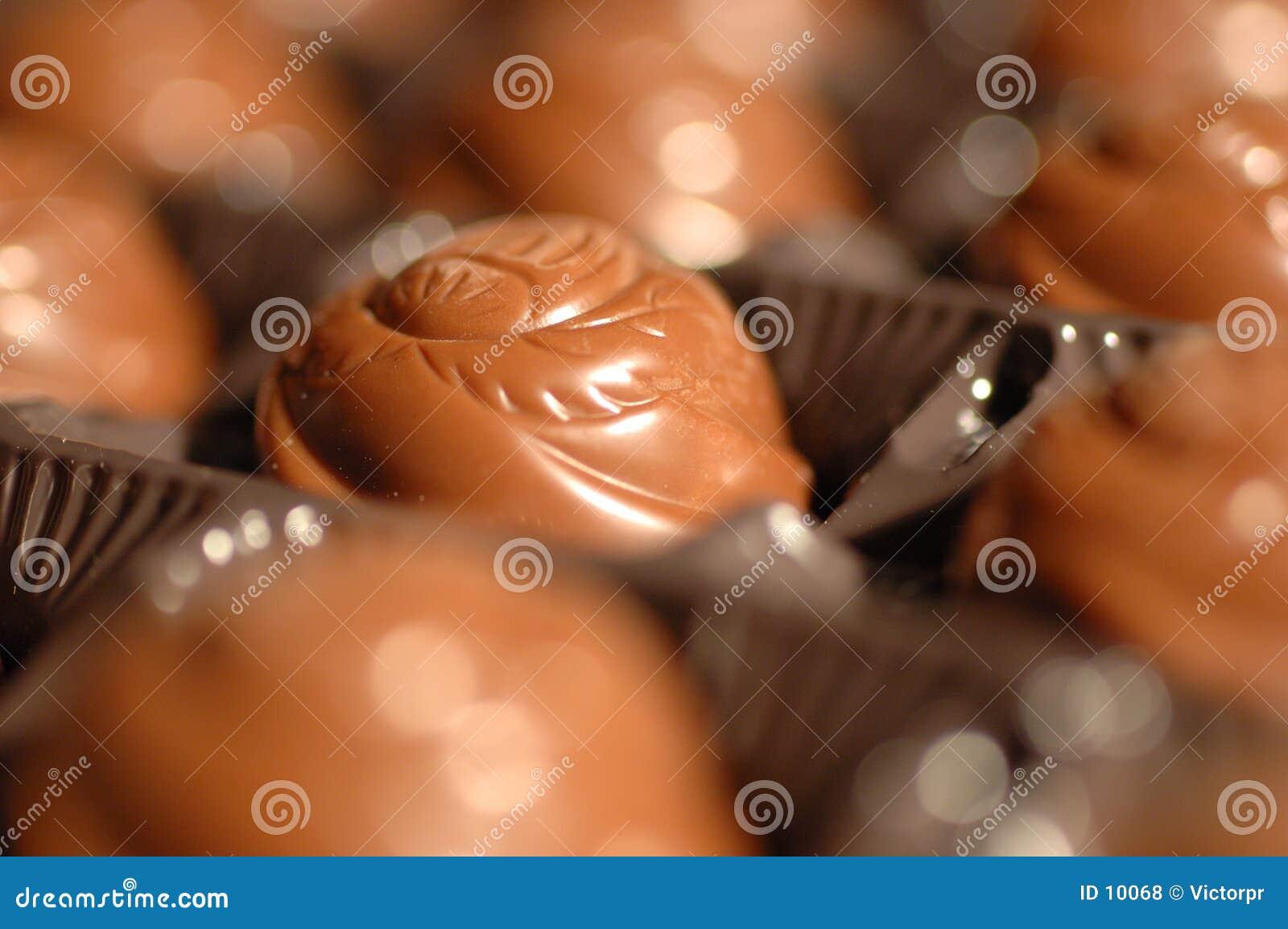 De close-up van de chocolade