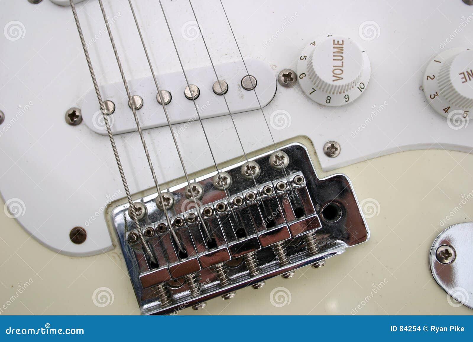 De close-up van de gitaar