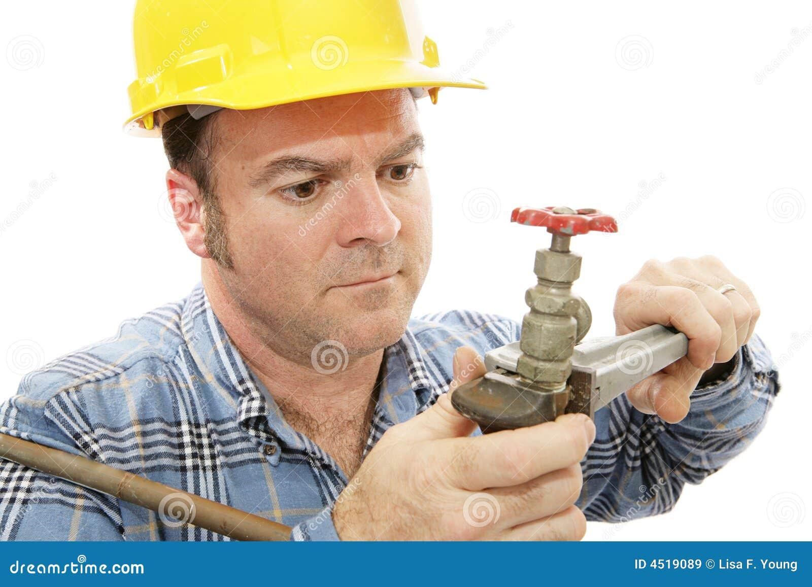 De Close-up van de Loodgieter van de bouw