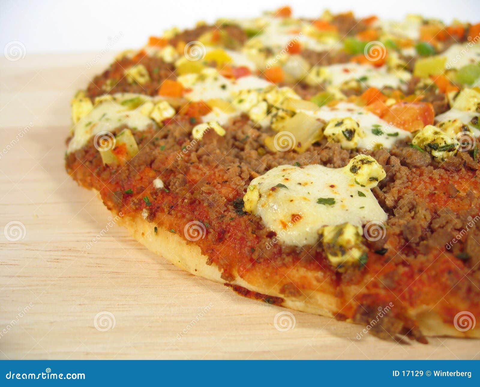 De Close-up van de pizza
