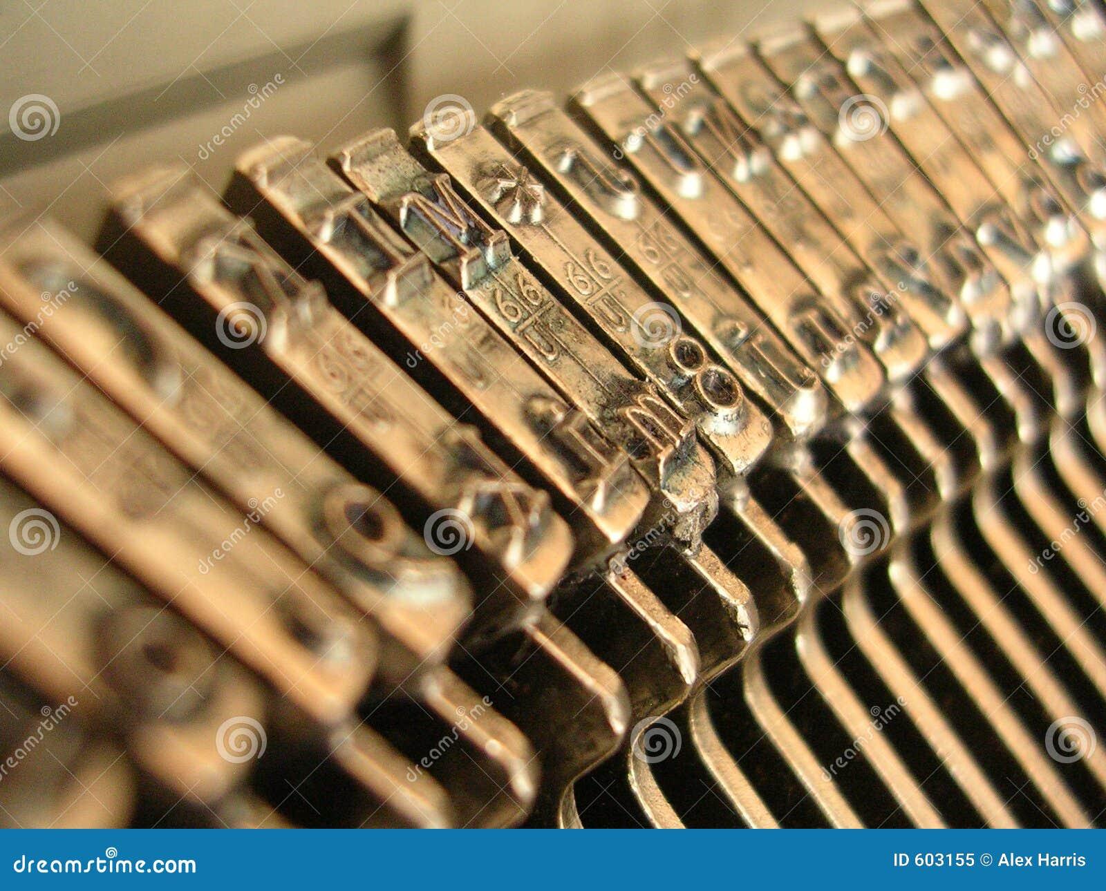De Close-up van de schrijfmachine