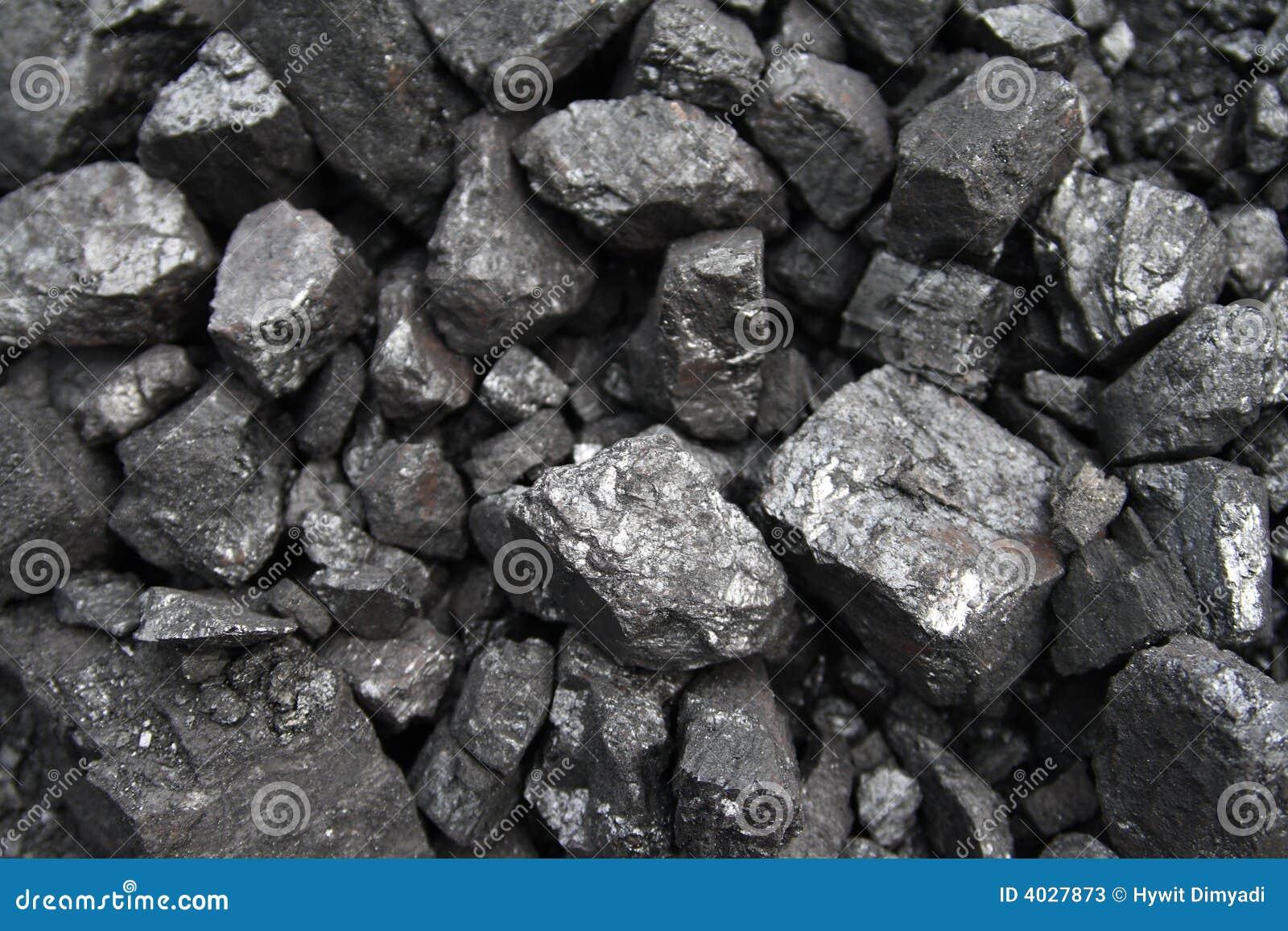 De close-up van de steenkool