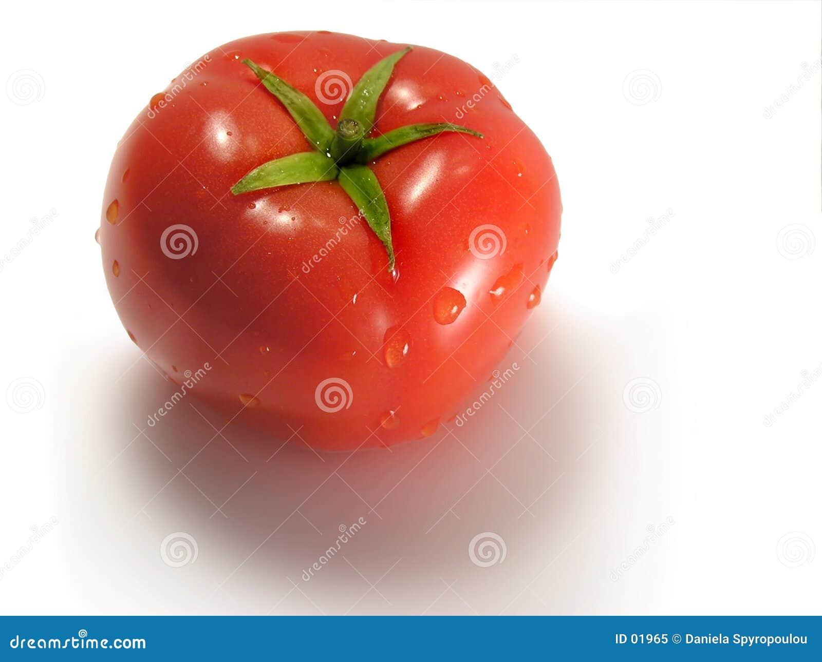 De close-up van de tomaat