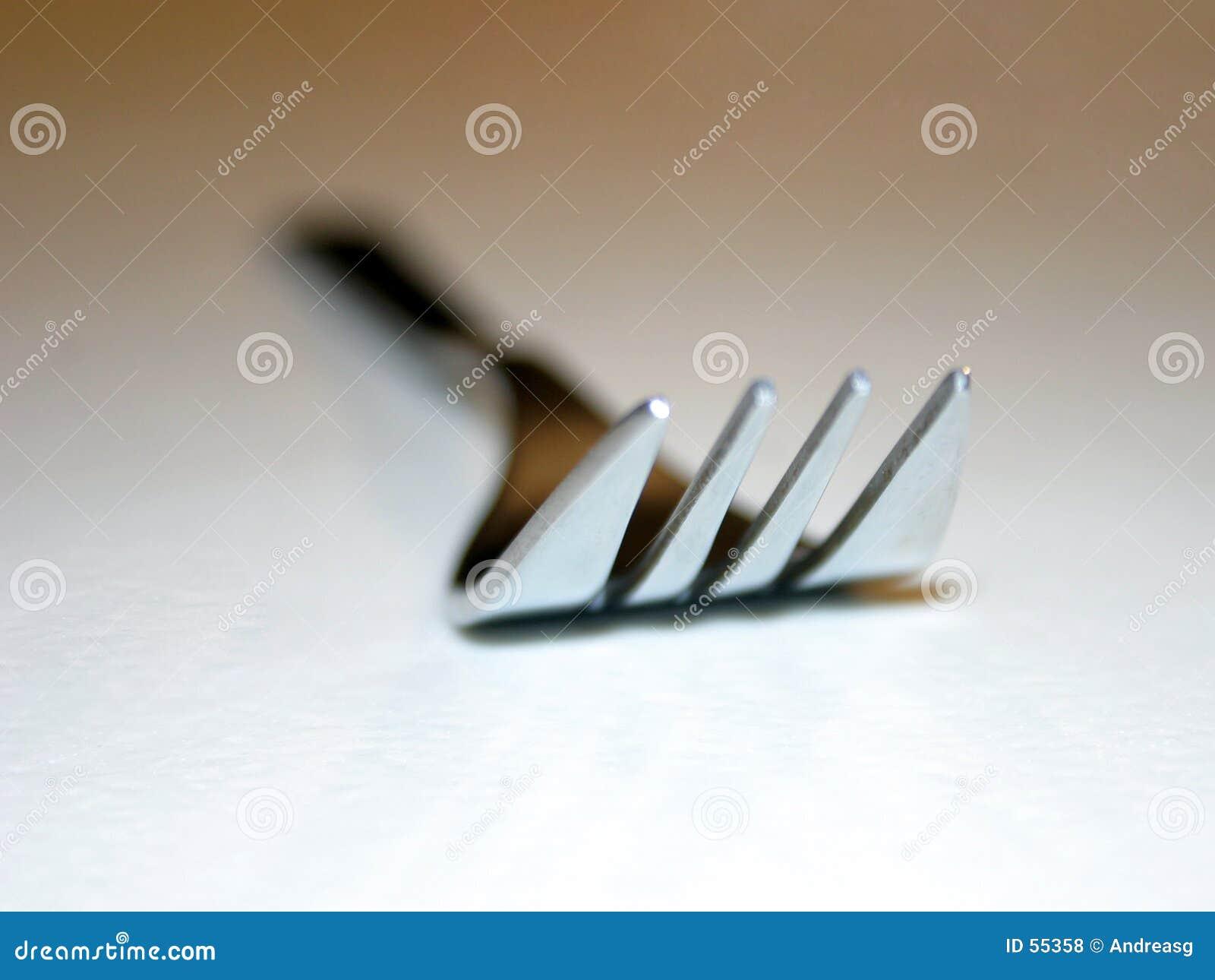 De close-up van de vork