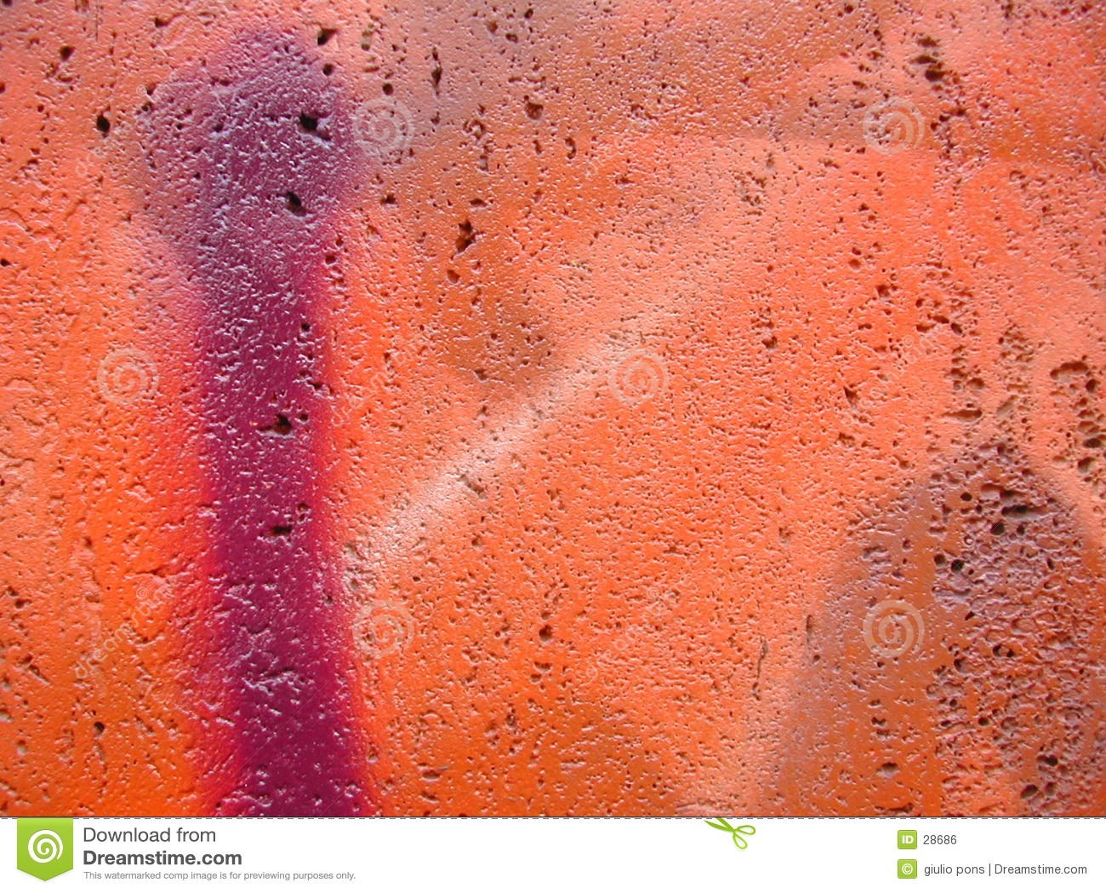 De close-up van Graffiti
