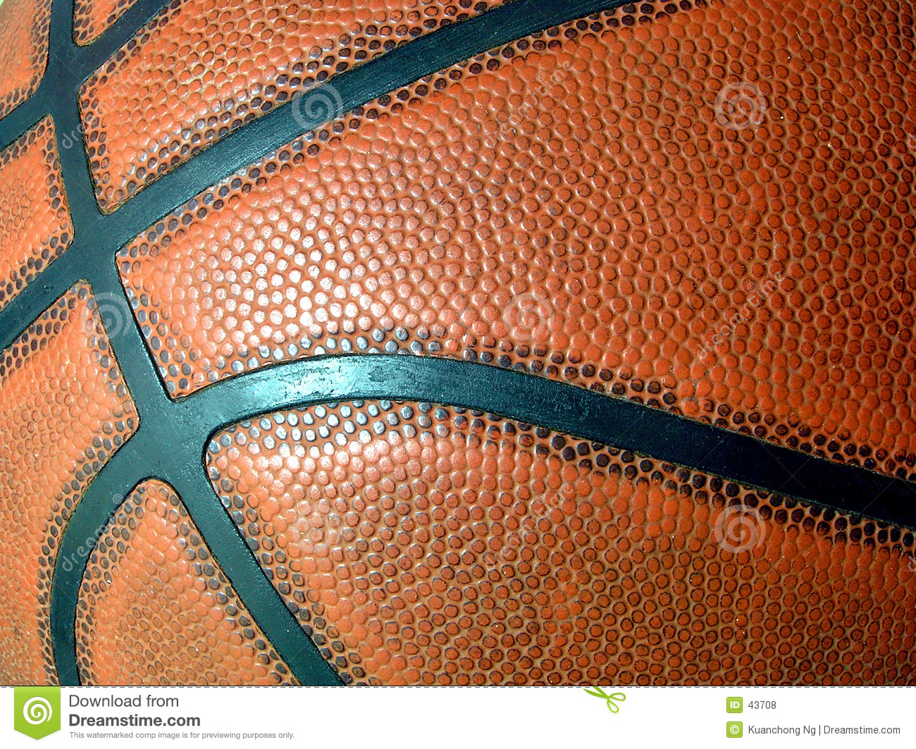 De close-up van het basketbal