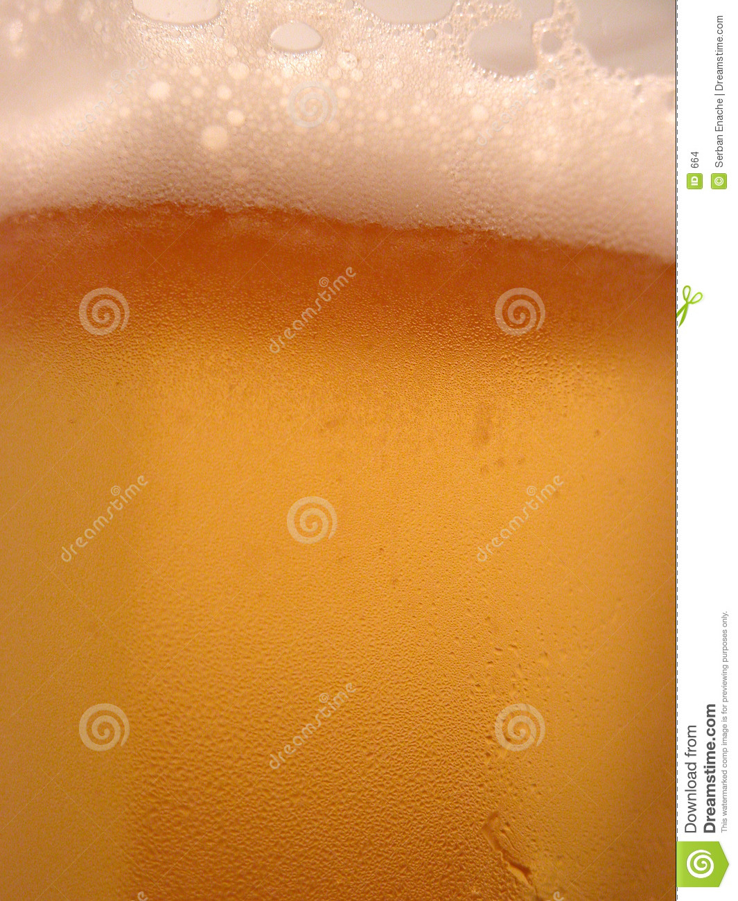 De close-up van het bier