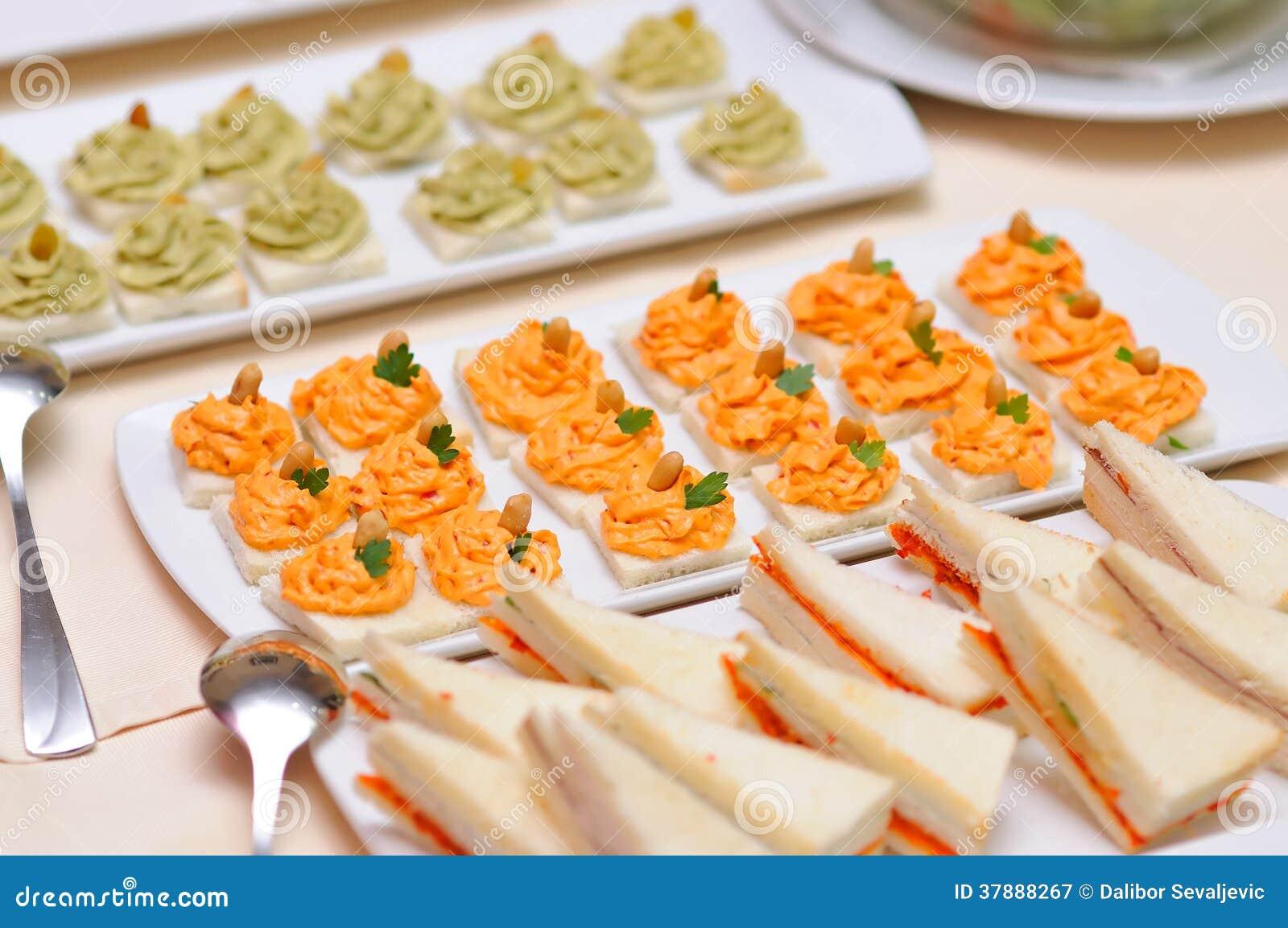De close-up van het cateringsvoedsel