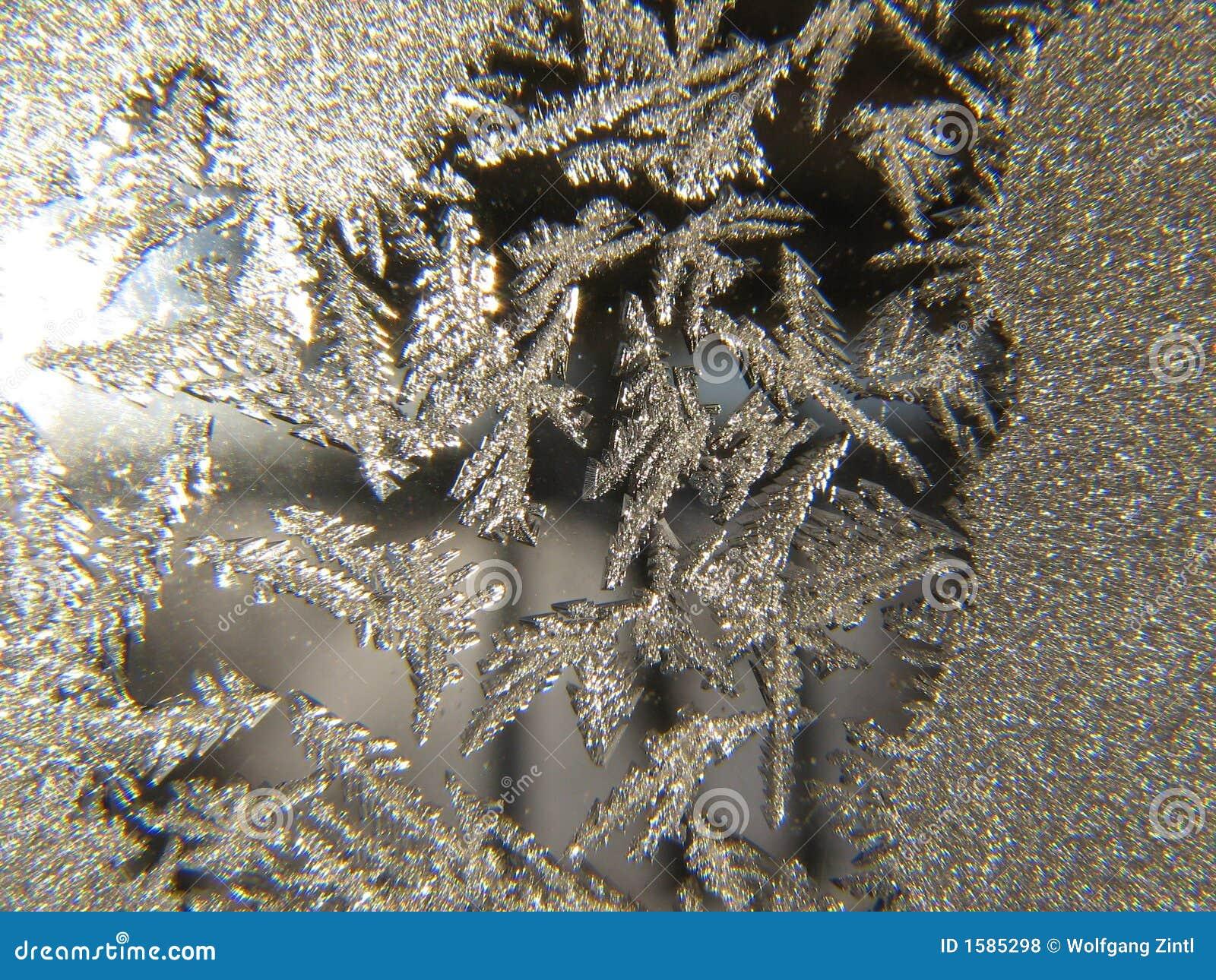De Close-up van het Kristal van het ijs