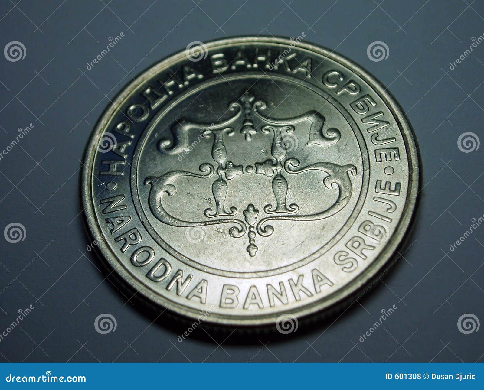 De close-up van het muntstuk