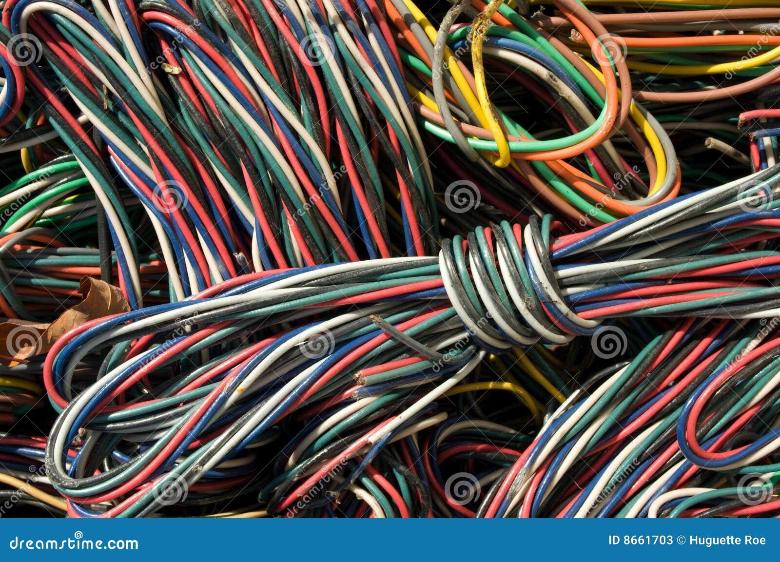De close-up van kabels