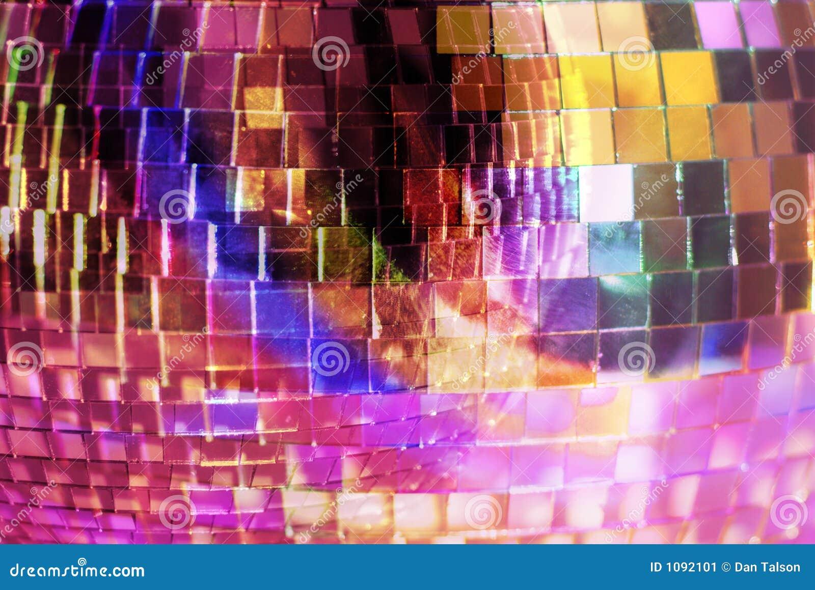 De close-up van Mirrorball