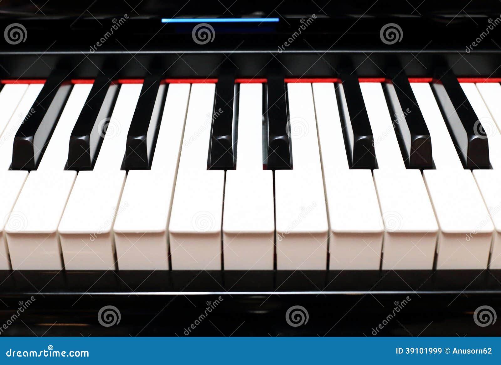 De Close-up van pianosleutels