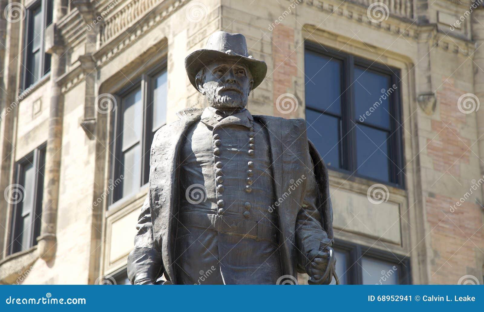 De close-up van Ulysses S Grant Statue