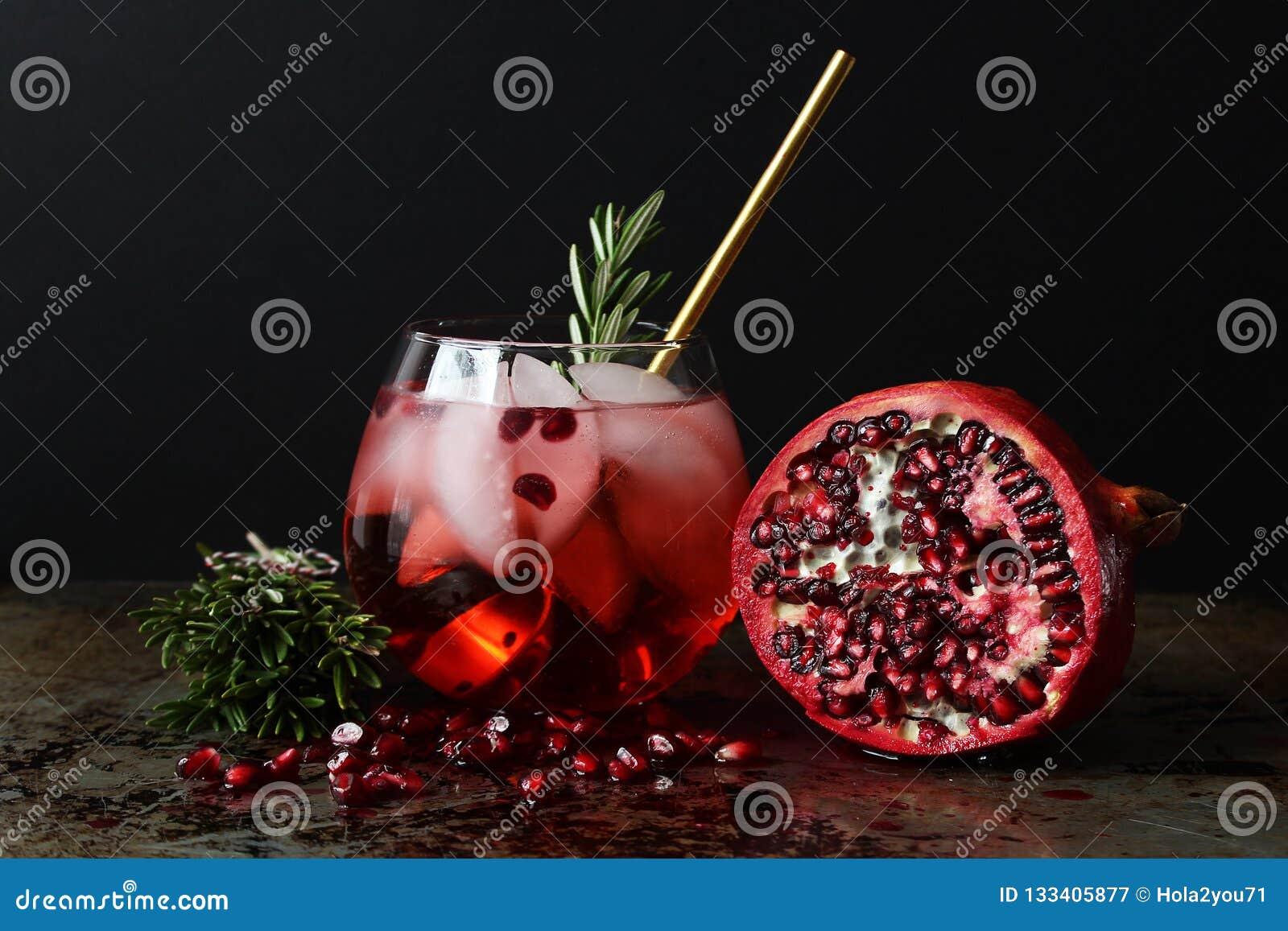 De cocktail van de granaatappel